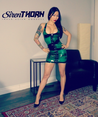 Polymorphe latex dress